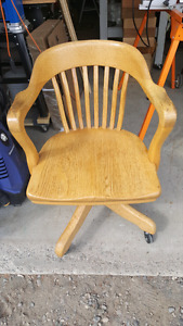 Bankers wood swivel chair