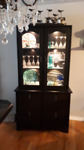 Black Wooden Hutch with lighting