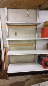Gondola Shelving 4' sections $150/ 4' section