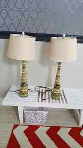 Table lamp 2 for 30$ or 20.00 each