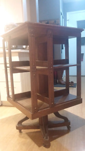Antique spinning bookcase