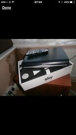 Sky HD 3D box. Wifi ready. Remote and cables.