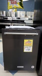44 dBA Black Stainless Steel Dishwasher