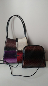 VITTORIO handbag and matching liner/shoulder purse