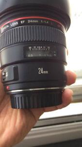 Canon 24mm L f 1.4 prime lens