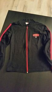Brand New Tommy Hilfiger Red and Black Zipped Up Top