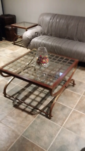 Bombay Gold Wrought Iron Coffee Table