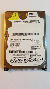 "WD 40GB 2.5"" IDE Hard Drive for Laptop"