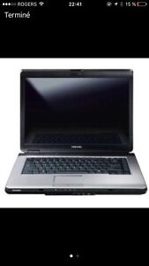 "***ACCEPTE ÉCHANGE*** LAPTOP TOSHIBA 15.4"" /OFFICE 13"
