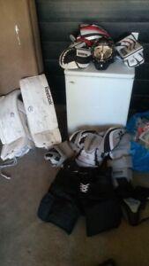 Full set of goalie equipment