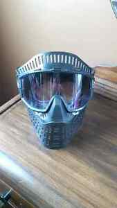 Paintball mask with goggles