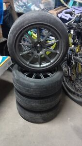 Rims with Brand New Tires - 4x100 - 15 x 6.5 - 45 offset