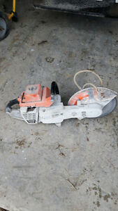 Trade a Stihl cement saw for a reaar tine rototiller