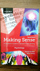 Making Sense in Psychology: A Student's Guide to Research and Wr