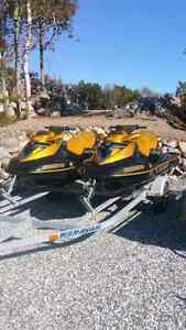 2006 Seadoo RXT pair with Double Trailer