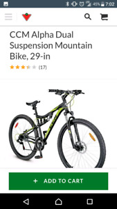 CCM Alpha Dual Suspension Mountain Bike, 29-in  $550