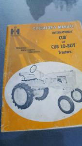 1965  Internal Cub Tractor