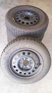 15 inch Goodyear Nordica Tires and Rims