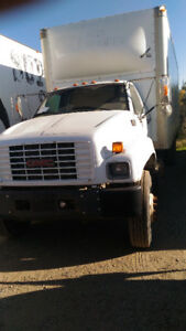 GMC 6500 with 24 foot box and tailgate - roll up door van $9,350