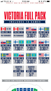 World Juniors-All 14 games, 8th row. Section 114. Great seats