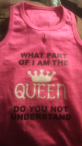 Dog/puppy clothing/shirt Girl Pink Small Queen 9