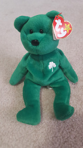 Erin St.Patricks Day Green bear Ty Beanie Baby with Original Tag