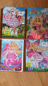 4 Barbie DVD's for $15 - like new condition