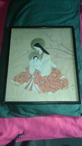Japanese silk painting