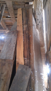Old barn boards and barn beams