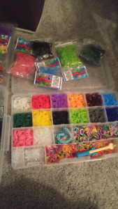 Lot of rainbow loom elastics
