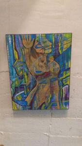 toile peinture art abstrait peintre du Québec