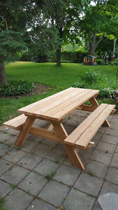 6' Hand Crafted 2x6 Cedar or Pressure Treated Picnic Table London Ontario image 3