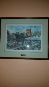 W.D. Folkins Train Station Framed Prints
