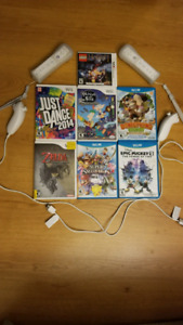 Nintendo 3DS, Wii and Wii U Games, Wii Console and Controllers