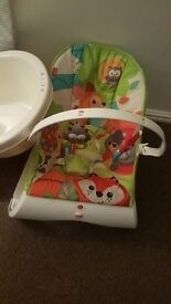 Baby chair, bath & changing mat