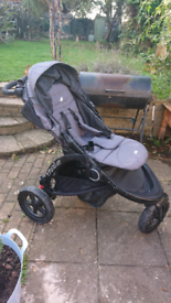 Joie Crosster pram and carry cot (with attachments)