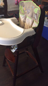 Solid wood high chairs Cambridge Kitchener Area image 2