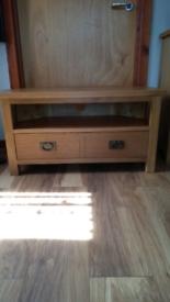 Oak Corner television cabinet