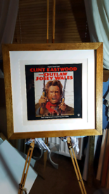 Frame and mounted Clint Eastwood Lp/ picture