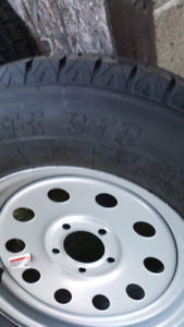4 brand new 205 75r 15 trailer radials and rims