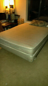 Queen size mattress/box spring and frame for sale.