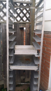Bakers racks with trays