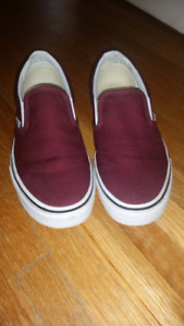 Vans size 7.5 woman's size 6 youth worn twice $35