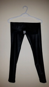 Womens Dynamite Black Shiny Leggings