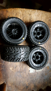 4 Proline Dirt Hawg pre mounted tires