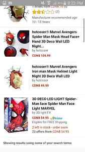 Spidey mask 3d deco light London Ontario image 4