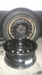 """Three 16"""" Winter Tires on rims and One new rim"""