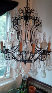 Large Wrought Iron Crystal Chandelier Peterborough Peterborough Area image 2