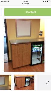 Meuble pour petit frigo