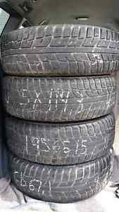 4 pneus 195 65 15 et rims 5x 114. 3